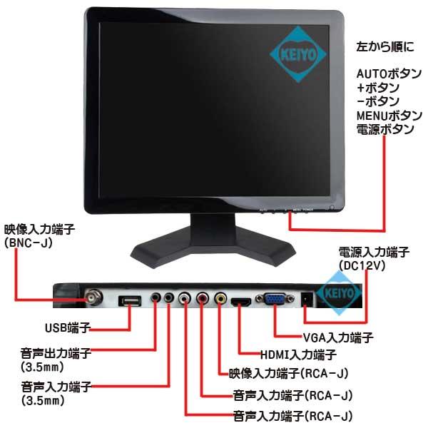 MNT-190HVBR【HDMI/VGA/BNC/AV入力搭載19インチTFT液晶モニター】