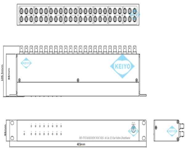 TMD-1632【TVD-1632】【HDTVI/HDCVI/AHDマルチフォーマット対応映像信号16入力32出力分配器】