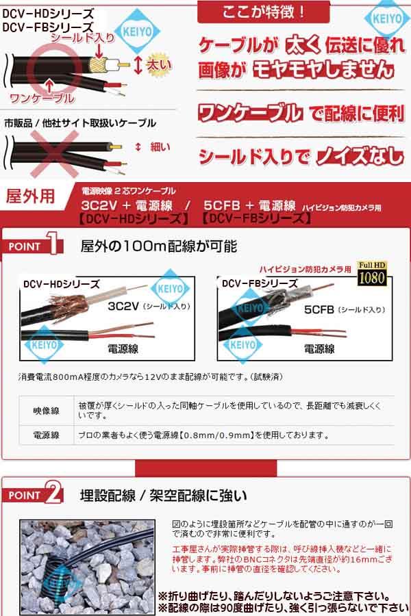 DCV-150FB【HD-SDI対応150M映像/電源延長ケーブル】