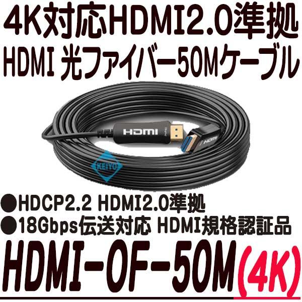 HDMI-OF-50M【4K対応HDMI光ファイバー50mケーブル】