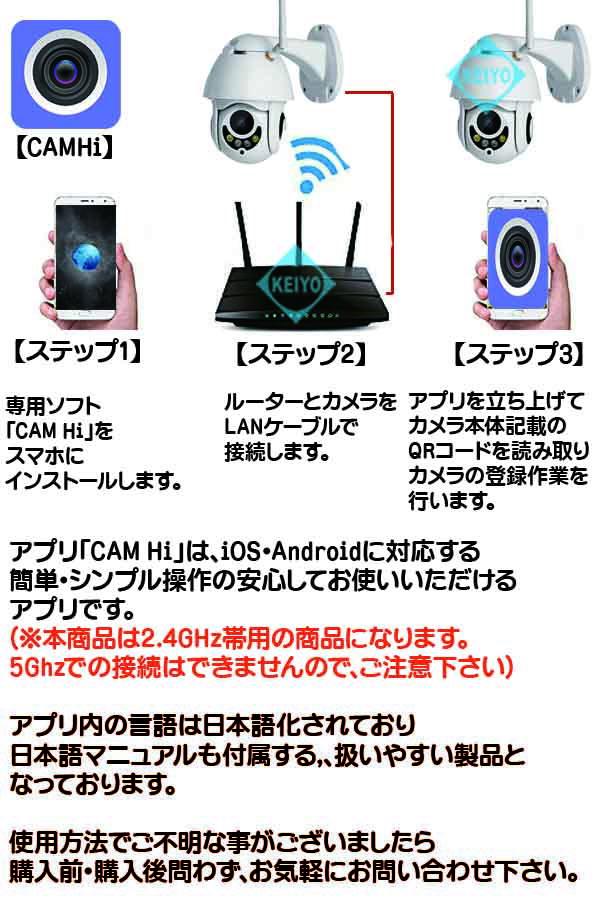 ASIP-1080D-PTZ(32GB)【Wi-Fi機能搭載200万画素光学4倍PTZドーム型ネットワークカメラ】