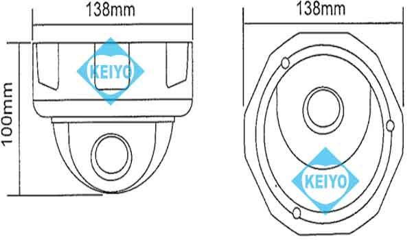 ITC-JK502【HDTVI/HDCVI/AHD/CVBS切替対応220万画素防破壊構造ドーム型カメラ】