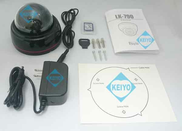 LK-790(64GB)【SDXC512GB対応屋内設置用ドーム型SDカード録画カメラ】