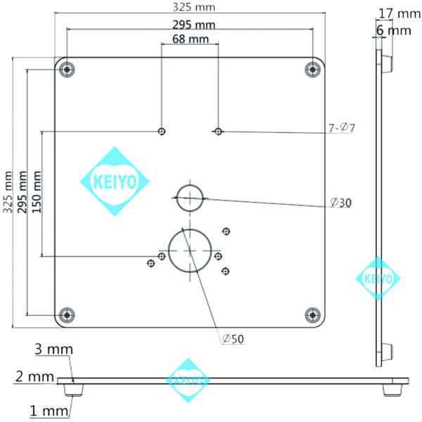 DS-KAB6-BACE【7インチタブレットタイプサーマルカメラ用ロングスタンド転倒防止板】