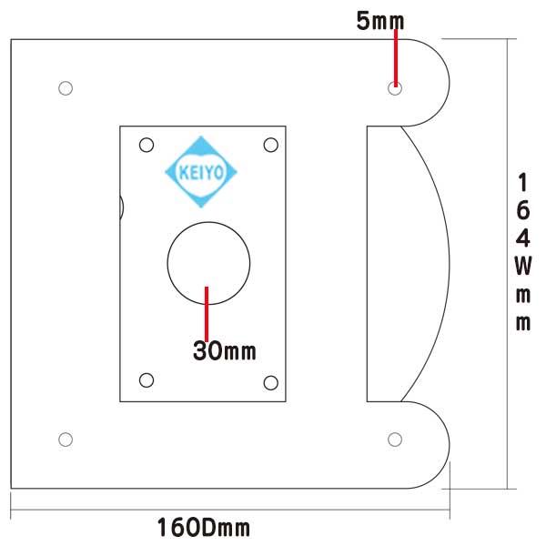 L-718DB【軒下設置用ドームカメラ用3/4/5/6寸勾配対応取付金具】