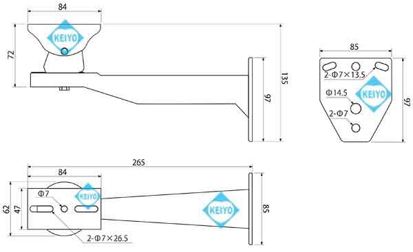 L-704【屋外設置対応背面開閉式ハウジング】
