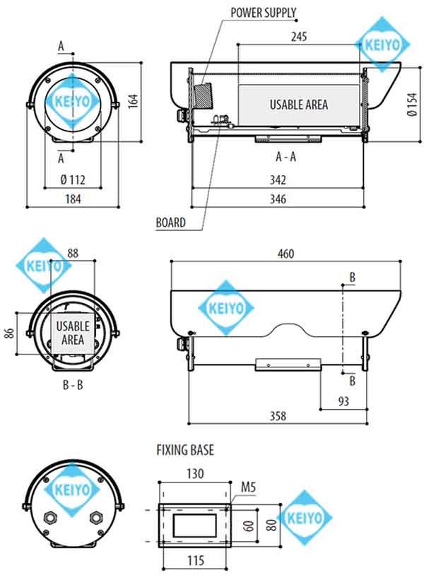 THS-NX342(NXM36)【ロイド船級認定取得ステンレススチール製カメラハウジング】