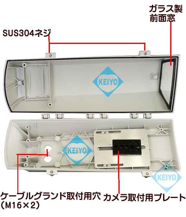 THS-PO250S(PUNTO)【IP66準拠テクノポリマー製サイドオープン型カメラハウジング】