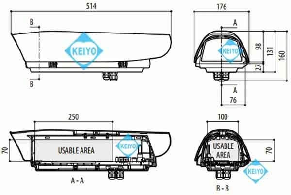 THS-V300-H(HOV)【IP66準拠アルミダイキャスト製サイドオープン型ヒーター搭載カメラハウジング】