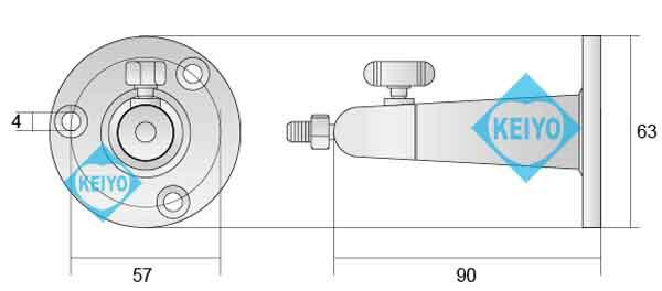 WTW-BR11(10個セット)【アルミニウム製防犯カメラ用ブラケット】