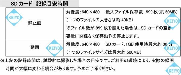 MT-TC2818DX【白色LED内蔵SDカード録画機能付フレキシブルカメラ】