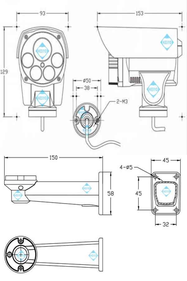 ASIP-1080B-PTZ【Wi-Fi機能搭載200万画素光学4倍PTZ型ネットワークカメラ】