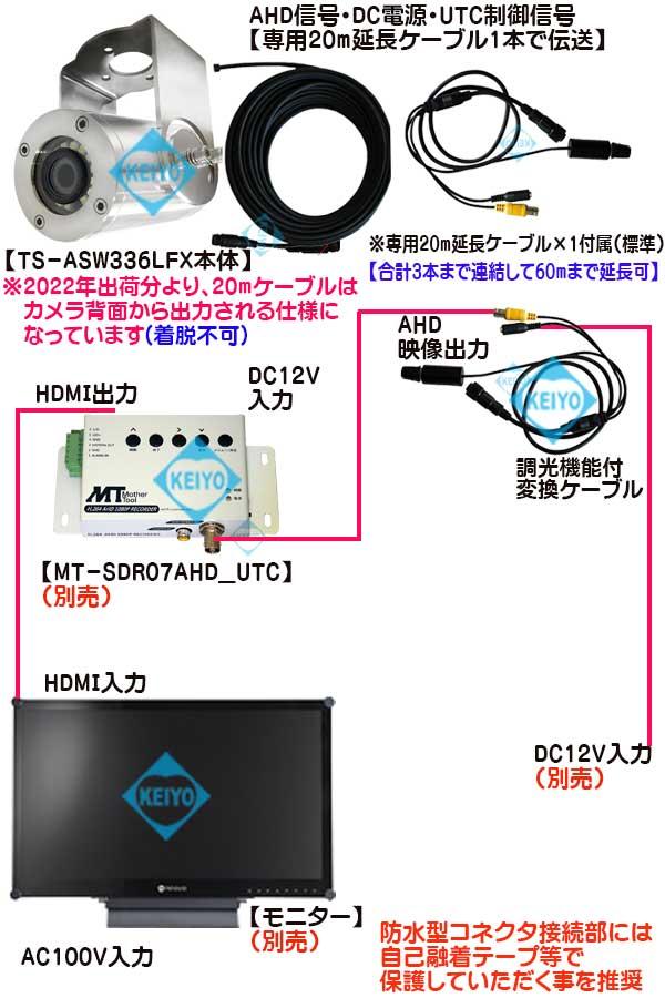 TS-ASW336LFX【調光機能付白色LED搭載マルチフォーマット方式小型ステンレス水中カメラ】
