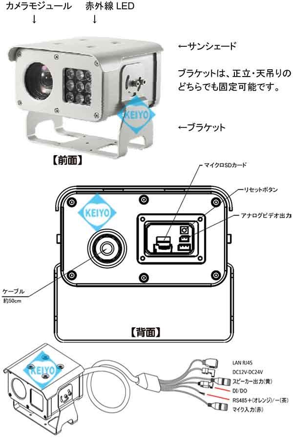TS-HD330NR【屋外設置対応光学30倍レンズ搭載1/3インチ赤外線付ネットワークカメラ】