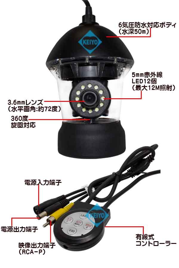 WTW-WPA40W-9D【6気圧防水対応50mケーブル付360度旋回対応カメラセット】