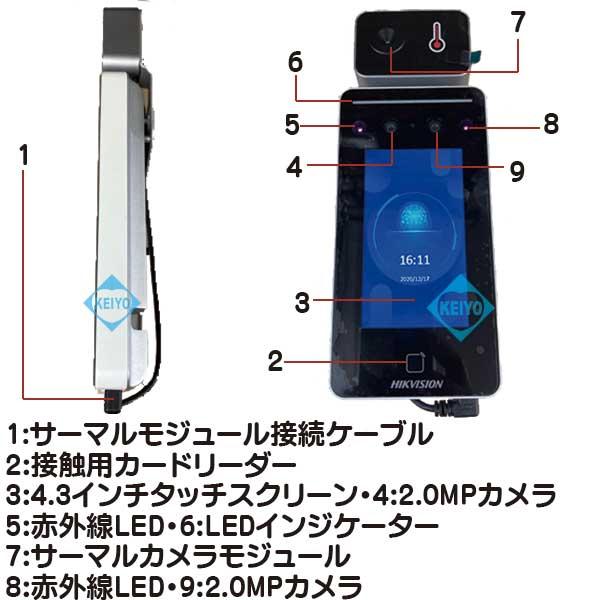 DS-K1T341BMI-T【4.3インチタッチスクリーン液晶採用サーマルカメラ】
