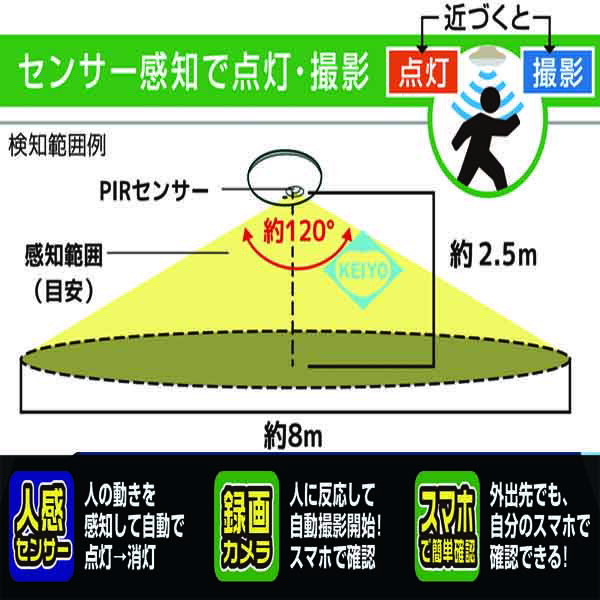 GS-CG360DTK(Dive-yミニシーリング360)【引っ掛けシーリング用Wi-Fiカメラ】