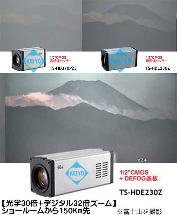 TS-HDE230EZN【HD-SDI/EX-SDI/IP方式対応光学30倍1/2インチ低照度イメージエンハンストズームカメラ】