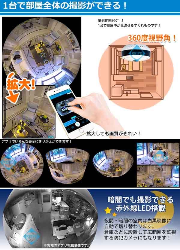VR360【360度全方位撮影対応ハイビジョンWi-Fiネットワークカメラ】
