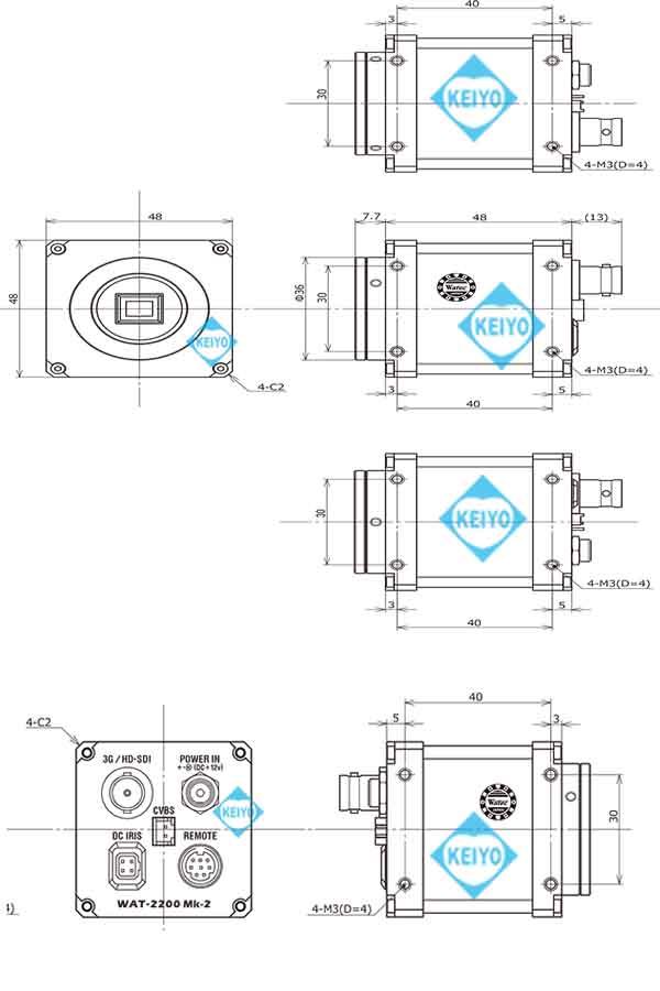 WAT-2200【3G-SDI対応HDSDI方式CSマウント高画質防犯カメラ】