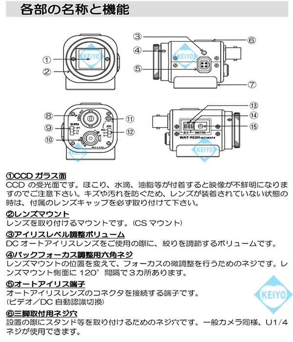 WAT-902H3 ULTIMATE【近赤外線領域対応超高感度モノクロカメラ】