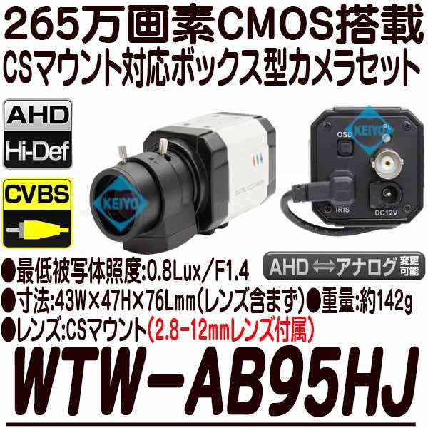 WTW-AB95HJ【265万画素レンズ交換対応ボックス型カメラセット】