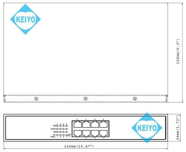 GV-POE0800【GeoVision製PoE+対応8ポートスイッチ】