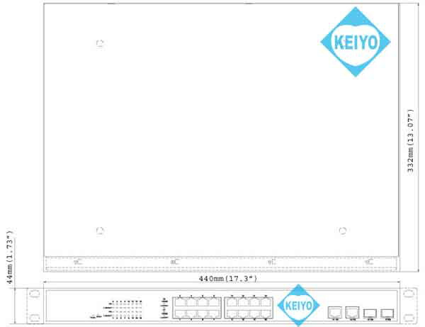 GV-POE1601【GeoVision製PoE+対応16ポートマネジメントスイッチ】