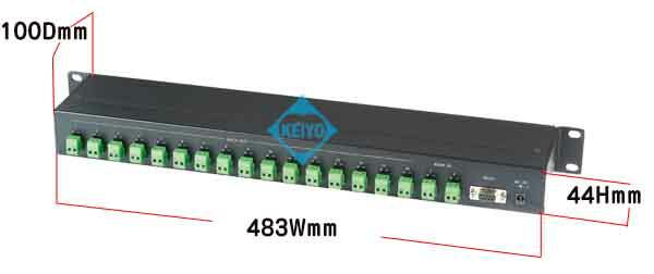 TDB-RS016【RS-232C/RS-485対応シリアルデータ16分配器】