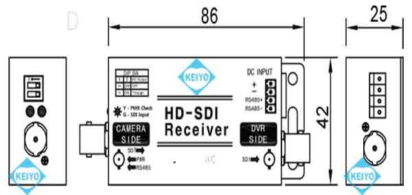TMR-HDP200D(SC-HRP0601D)【HD-SDI信号用映像/RS-485/電源伝送1ch受信機】