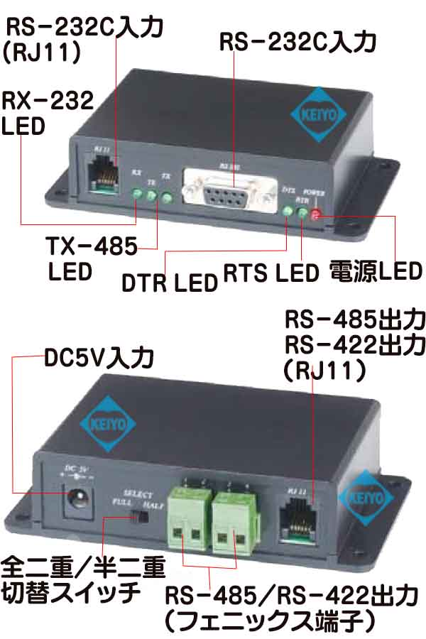 TVC-RS02【RS-232/RS-422・RS-485コンバーター】