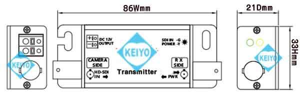 WTW-LHCP1008D(SC-LHCP1008)【HD-SDI信号用映像/電源長距離伝送8ch送受信機セット】