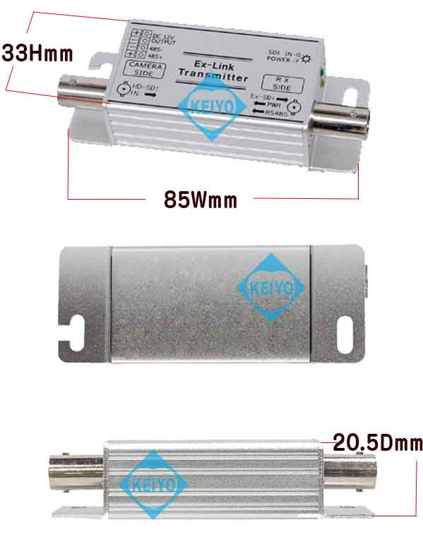 WTW-LHCP1001D【HD-SDI信号用映1ch送受信機セット】
