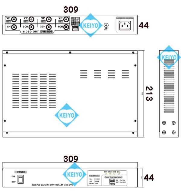 WTW-MVRP0604U【アナログハイビジョン信号用UTC対応映像/電源伝送4ch受信機】