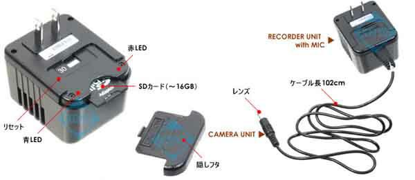 RE-18T【有線式カメラ付SDカードレコーダー】