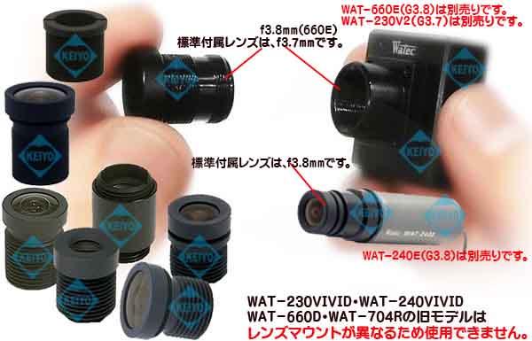 2540EX014-M12【WAT-230V2(G3.7)・WAT-240E(G3.8)専用交換レンズ】