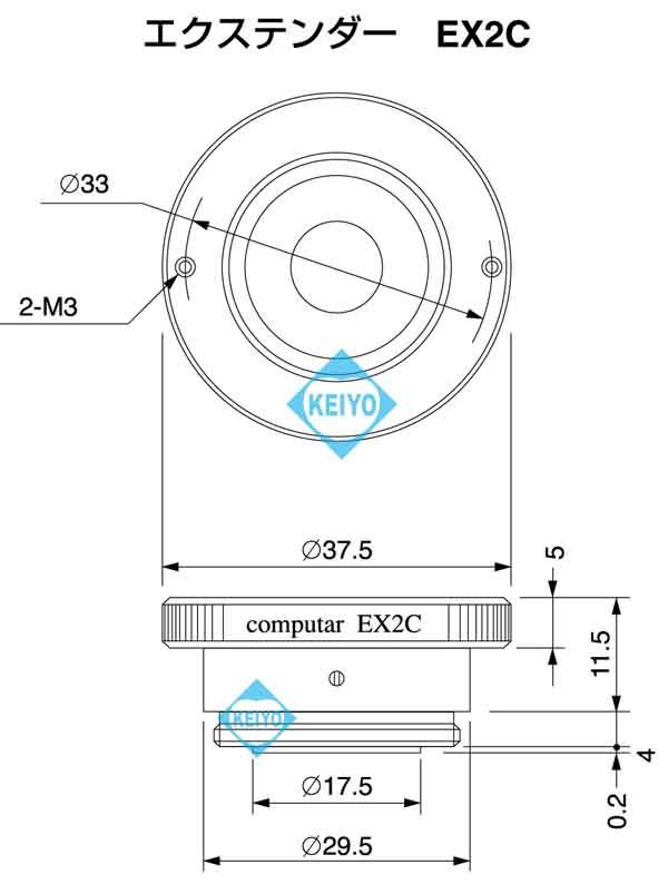 EX2C【computer製2倍Cマウント用エクステンダー】