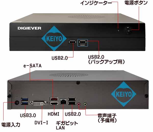 DS-21096Pro+(2TB)【4Kエンコーディング対応2TB搭載カメラ9台用ネットワークレコーダー】