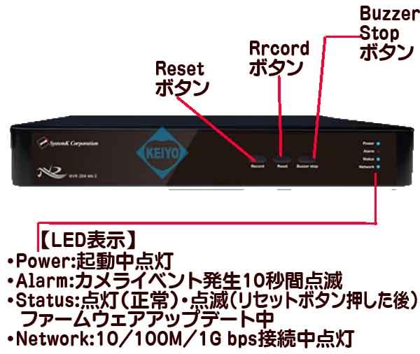 NVR-208【フルHD出力対応8TB搭載カメラ8台用ネットワークレコーダー】
