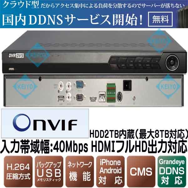 NVR616【フルHD出力対応2TB搭載カメラ16台用ネットワークレコーダー】