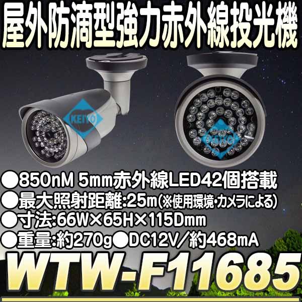 WTW-F11685【屋外設置対応LED42個搭載赤外線照射器】