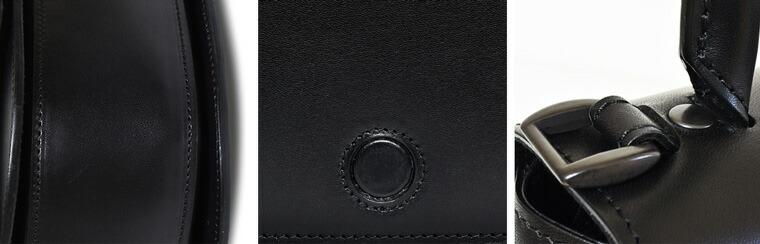ブラックの加工を施した金具を使用
