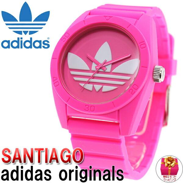 阿迪达斯原件阿迪达斯原件手表粉红色的圣地亚哥 santiago adh6170