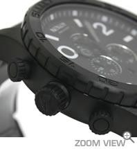 NIXON ニクソン 腕時計 51-30 CHRONO NA083001-00 オールブラック 横向き