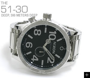 ニクソン 腕時計 51-30 NA057487-00 ハイポリッシュ/ブラック NIXON 説明
