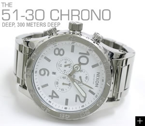 NIXON 腕時計 ニクソン 51-30 CHRONO NA083488-00 ハイポリッシュ/ホワイト 横置き