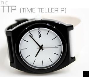 NIXON 腕時計 TTP (TIME TELLER P) NA119005-00 ブラック/ホワイト ニクソン 横置き