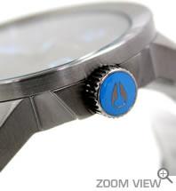 NIXON 腕時計 PRIVATE SS NA276624-00 ガンメタル/ブルー ニクソン サイド