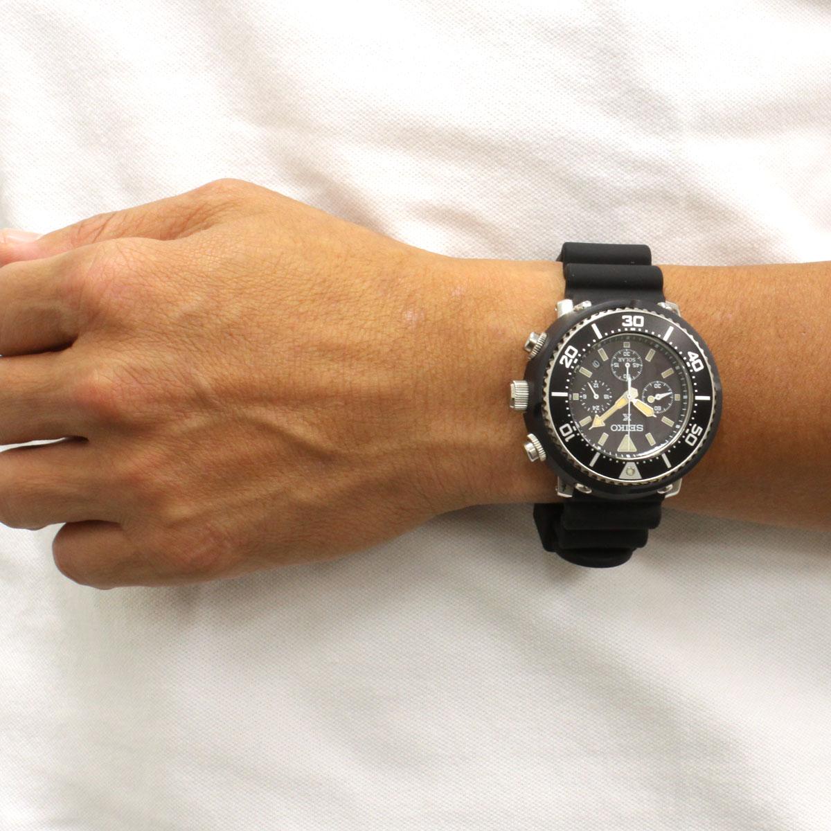 super popular 0f0a2 d8691 SEIKO Pross pecks SEIKO PROSPEX diver scuba LOWERCASE shop-limited model  solar chronograph watch SBDL041
