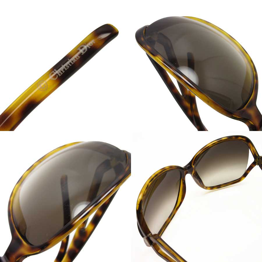 6c4a5f0abcc  basic popularity   used  a Christian Dior  Christian Dior  tortoiseshell  sunglasses 64 □ 16 120 lady s frame  Yellow   brown lens  Brown plastic